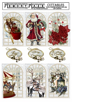Christmas & vintage ephemera& greetings, cuttable,tags. min buy